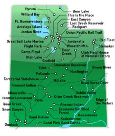 All of Utah's state parks. Come faster, summer!!