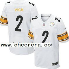 Men s Pittsburgh Steelers  2 Michael Vick White Road NFL Nike Elite Jersey 174b0bc60