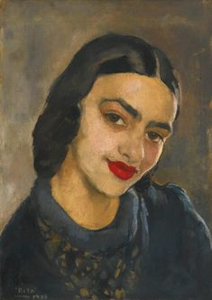Self-Portrait by Amrita Sher-Gil - Famous Indian Art - Handmade Oil Painting on Canvas — Canvas Paintings Famous Self Portraits, Self Portrait Art, Famous Portrait Artists, Famous Indian Artists, Indian Artwork, Indian Paintings, Amrita Sher Gil, Art Asiatique, India Art