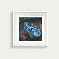 Original Painting. Oil . Flowers. Home Decor by MikaArtstore on Etsy