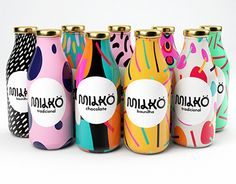 Art Milk - This pop art milk packaging was conceived by student designer Giovani Flores. The designer's 'Milkö' brand identity consists of . Milk Packaging, Cool Packaging, Food Packaging Design, Beverage Packaging, Bottle Packaging, Packaging Design Inspiration, Brand Packaging, Product Packaging Design, Chocolate Packaging