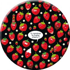 "Lali magnet grand format (88 mm) ""Tu ramène ta fraise, cherry ?"""