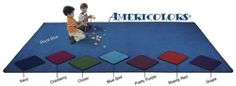 Flagship Carpets AMER69OV-GR 6 x 9ft Oval Grape Americolors Educational Rug by Flagship Carpets. $167.82