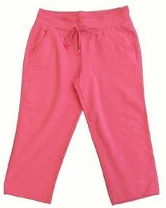 Green Tea Womens Fleece Capri Pants (Hot Pink, Large) Green Tea. $14.99