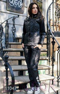 Стеганый спортивный костюм на синтепоне 200 - купить оптом и в розницу, интернет-магазин женской одежды lewoor.com