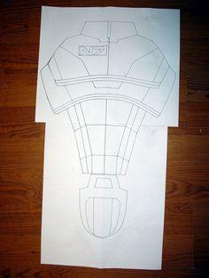 Mass Effect Armor Build! N7 Armor, Foam Armor, Mandalorian Armor, Witch King Of Angmar, Armadura Cosplay, Hey June, Armor Shirt, Tunic Sewing Patterns, Cosplay Armor