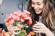 """You haven't seen true happiness, until you've seen Alycia around fresh flowers."""