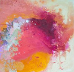 """""""Controlled Chaos"""" by Claire Desjardins. 24""""x24"""" - Acrylics on canvas."""
