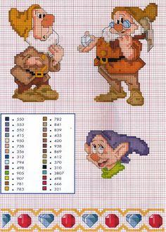 Mille schemi a punto croce gratuiti per tutti: Schemi punto croce - raccolta cartoni animati
