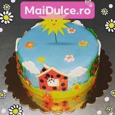 torturi aniversare personalizate - pasta zahar, martipan, figurine, desene animate 0757605570 E Commerce, Caramel, Birthday Cake, Mai, Desserts, Food, Sweets, Sticky Toffee, Tailgate Desserts