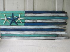"""Handcrafted Coastal Flag: """"Blue Crush"""" (from Outer Banks Trading Group)"""