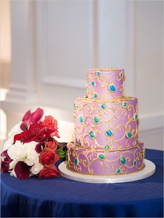 #weddingcake #pink #gold @weddingchicks
