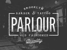 Dribbble - Parlour Typeface by Jeremy Vessey