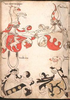 Wernigeroder (Schaffhausensches) Wappenbuch Süddeutschland, 4. Viertel 15. Jh. Cod.icon. 308 n  Folio 154v