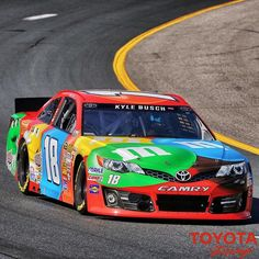 Love the Kyle Busch M&M Toyota colors for the weekend in New Hampshire - From Twitter