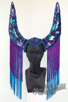 Sequin Horn Headdres