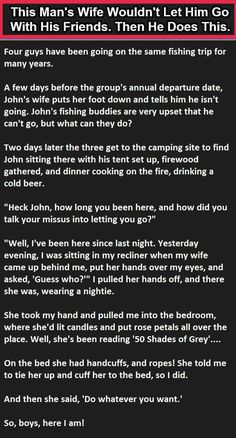Mans Wife Wouldnt Let Him Go Fishing So He Did This funny quotes quote jokes lol…