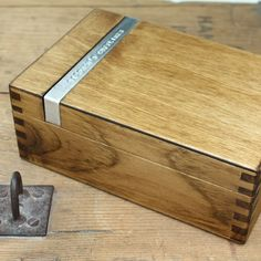 Clear away his clutter with this exquisite men's dressing box!   Personalised Wooden Cufflink Box   GettingPersonal.co.uk