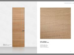 Josko frameless internal tall door in rough sawn oak