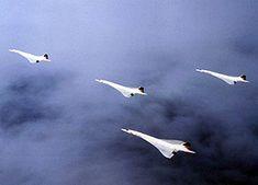 "concorde formation flight | ... Concordes in the ""Concorde"" formation to celebrate the milestone"