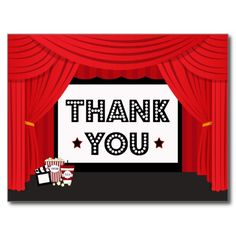Movie screen and curtain birthday party thank you postcard we are given they also recommend where is the best to buyHow to          Movie screen and curtain birthday party thank you postcard Here a great deal...
