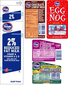 ... from labels for gallons of milk to cartons for ice cream sandwiches