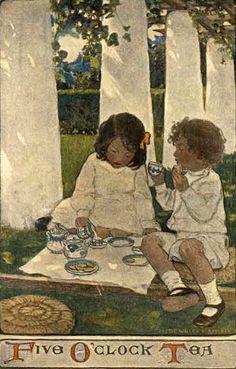 """""""Five O'Clock Tea"""" by Jessie Willcox Smith"""