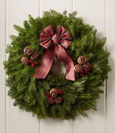 Find the best Tartan Christmas Fir Wreath at L. Christmas Wreaths For Front Door, Christmas Door Decorations, Holiday Wreaths, Winter Wreaths, Door Wreaths, Tartan Christmas, Christmas Time, Christmas Crafts, Christmas Ideas