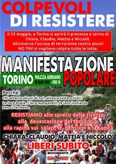 Sistema Torino: Manifestazione: Colpevoli di resistere - Torino, 14 maggio