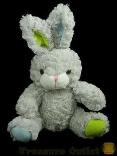 Sound & Light Stuffed Plush Soft Grey Bunny Rabbit Easter Animal #SoundLightAnimatronicsCo