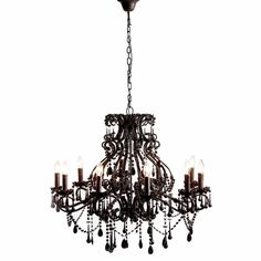 Sassy Boo Black Chandelier - Black French Bedroom Furniture