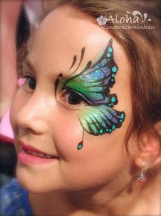 Face painting designs for your children's party! Face Painting Halloween Kids, Halloween Art, Painting For Kids, Halloween Face Makeup, Butterfly Face Paint, Doll Face Paint, Fantasy Make Up, Kids Makeup, Belly Painting