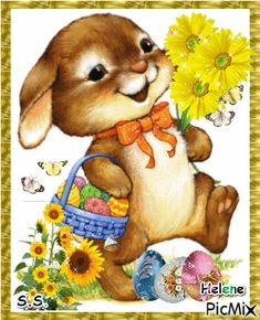 See the PicMix Easter hare. belonging to StellaStai on PicMix. Merry Christmas Pictures, Christmas Wishes, Easter Art, Easter Bunny, Easter Wishes Messages, Happy Easter Gif, Birthday Wishes Gif, Easter Pictures, Cute Teddy Bears