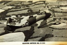 September an experimental Gloster Meteor with Rolls-Royce Trent engines makes the first turboprop-powered flight. Air Force Aircraft, Navy Aircraft, Military Aircraft, Fighter Pilot, Fighter Jets, Rolls Royce Trent, Gloster Meteor, Air And Space Museum, Private Jets