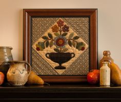 Your quilt blocks are pieces of art! Frame one of your beauties as is, or add triangles to each side to set it on point.