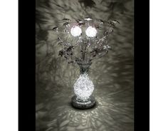 Blossom Wire Table Lamp White Black