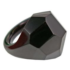 Faceted glass cocktail ring