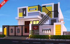 House Floor Design, House Outside Design, Duplex House Design, Small House Design, Modern House Design, Building Elevation, House Elevation, Front Elevation, Pvc Ceiling Design