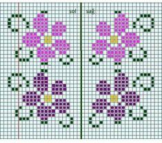 Cross Stitch Beginner, Small Cross Stitch, Cross Stitch Borders, Cross Stitch Rose, Cross Stitch Alphabet, Cross Stitch Flowers, Cross Stitch Charts, Cross Stitching, Cross Stitch Embroidery