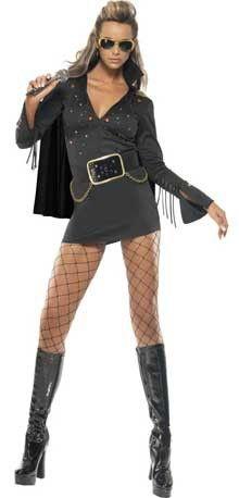 Disfraz de Elvis™ Negro para mujer