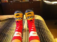 Minion Slippers for Christmas 2015