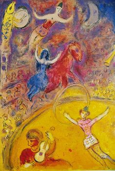 Marc Chagall Circus Rider | Marc Chagall『Circus』は全38枚あるが、個々にtitleや ..