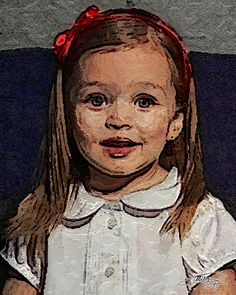 La niña del lazo rojo - Autor Luis Cebrián - 2015 - 50x60cm - Pintura sobre lienzo. Disponible. luisceb@yahoo.es