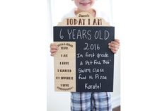 5/29 Personalized Birthday Photo Prop Chalkboard Sign -- Standard Font