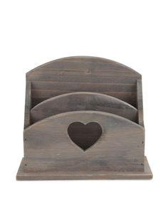 Sass & Belle - Dřevěný stojánek na dopisy a dokumenty - 1