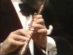 Sir James Galway playing the Flute Concerto In D Major Mozart First Movement. Music Music, Sound Of Music, James Galway, Amadeus Mozart, Flutes, Classical Music, Ears, Music Instruments, Teacher
