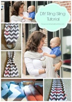DIY Ring Sling Tutorial- use lightweight knit, 3 yards and 4in rings
