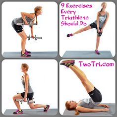 Nine Exercises Every Triathlete Should Do (Strength Training) Sprint Triathlon, Ironman Triathlon, Triathlon Training, Strength Training Workouts, Sports Training, Training Plan, Running Training, Marathon Training, Training Tips