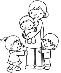 Free printable coloring pages for print and color, Coloring Page to Print , Free Printable Coloring Book Pages for Kid, Printable Coloring worksheet Mothers Day Coloring Pages, Coloring Book Pages, Classroom Labels, Art Classroom, Mother's Day Colors, Family Theme, Art Drawings For Kids, Craft Free, Free Printable Coloring Pages