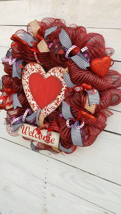 Hey, I found this really awesome Etsy listing at https://www.etsy.com/listing/499334065/valentine-wreath-welcome-wreath